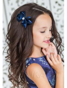 """Зажим для волос синего цвета """"Виктория"""" (2шт)"""