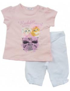 """Комплект на малышку нежно розовый """"котята"""""""